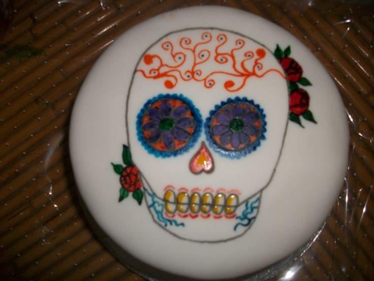 tarta calavera mexicana