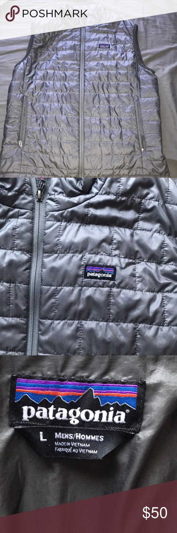Patagonia vest Patagonia vest men's size large Small cut on left size pocket Patagonia Jackets & Coats Vests