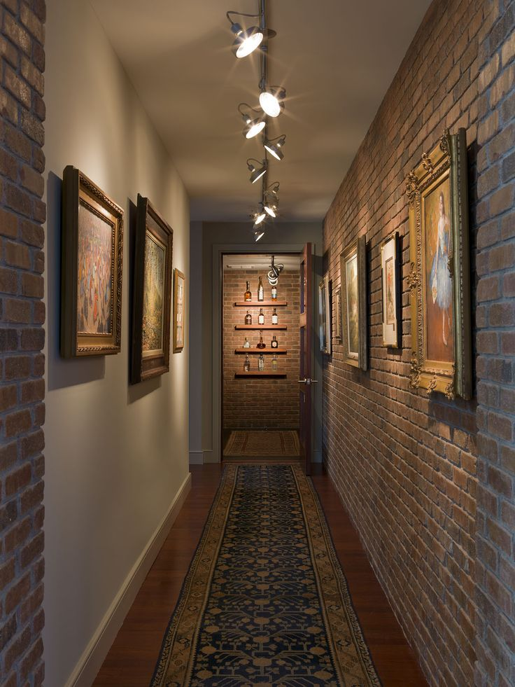 Wine Gallery Interior Brick Wall Antique Oushak Rug