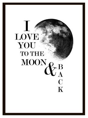 To the Moon typography print quote. Buy it at EpicDesignShop.com
