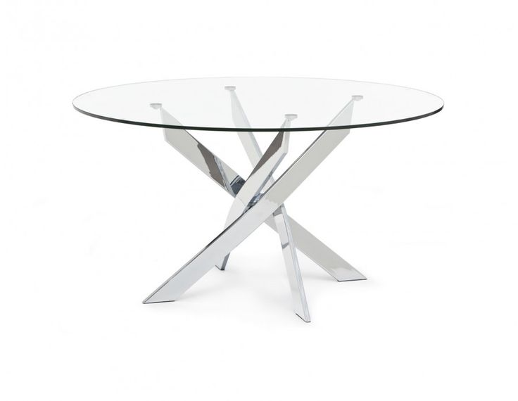 Every dining room needs a focal point, and there's no conversation-starter like Ibiza. With a tempered glass top and chrome legs, this table brings eye-catching sparkle to any space.