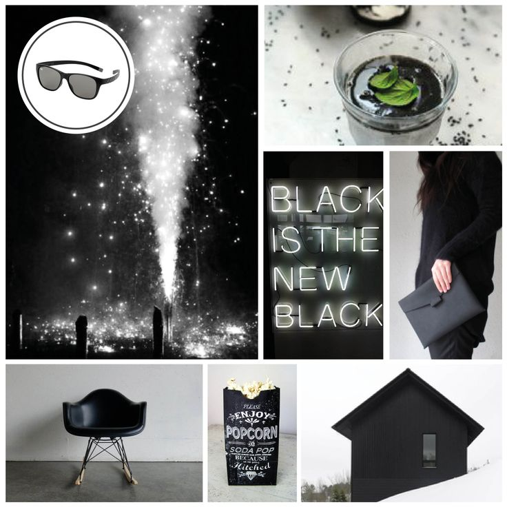 MONDAY MOODBOARD; Beautiful Black. Start your week with color inspiration! In this weekly Monday Moodboard it's all about black. Focus: New Years Eve in classy black. Ice-Watch Eyewear model: Pulse - Black