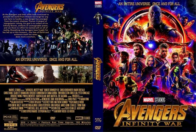 Avengers Infinity War 2018 Dvd Custom Cover Dvd Cover Design Custom Dvd Dvd Covers