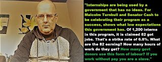 Mark Dickenson Twitter politician Australia.: Internships, what are they good for?