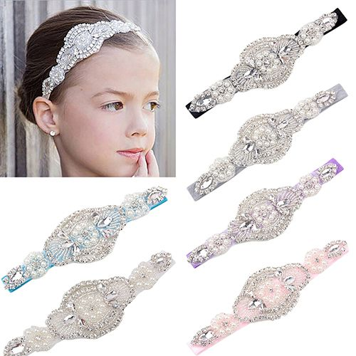 >> Click to Buy << Girl's Headband Faux Pearls Rhinestone Hairband Wedding Headwear Accessory #Affiliate