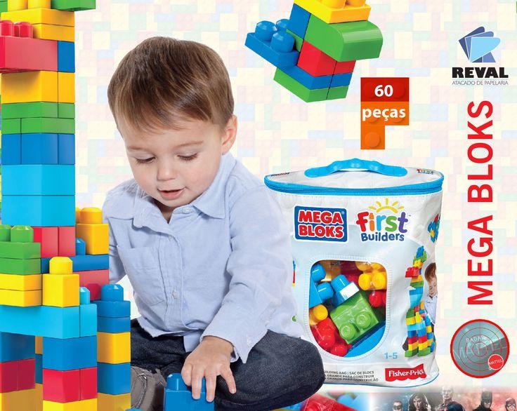 Mega Bloks First Builders! Peça pelo código Reval 60779 (ref. Mattel: DCH55) pelo 0800-701-1811 ou pelos representantes de vendas de sua região e ótimas vendas! MEGA BLOKS estimula a criatividade e habilidade motora de crianças pequenas, permitindo que construam e reconstruam para fazer com que todo dia seja diferente. Seus famosos blocos de montar criam o que uma pequena mente infantil desejar. A linha MEGA BLOKS é muito indicada para a primeira infância. #Reval #Mattel #RadarMattel