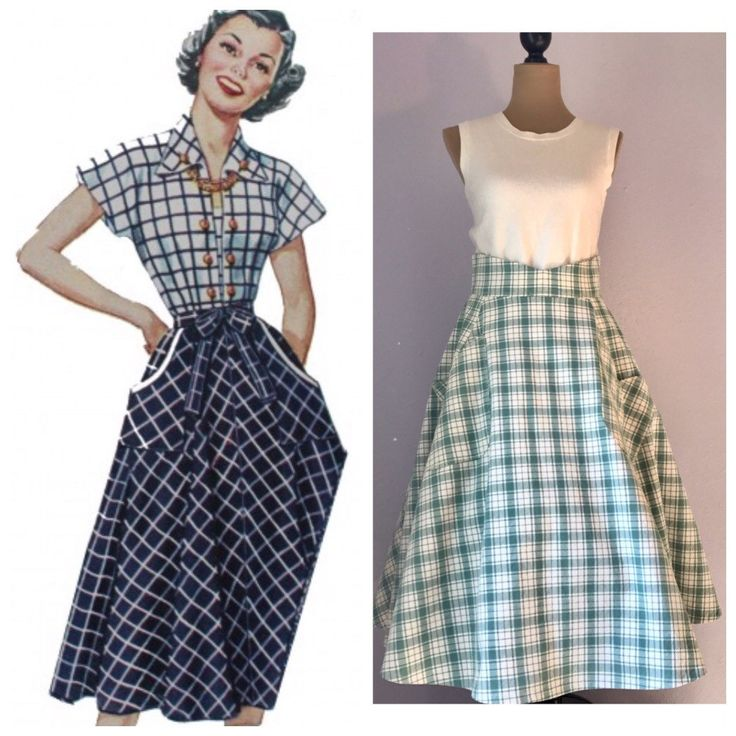 Love a 1950s skirt look? Check out this Hand Made skirt! 💋