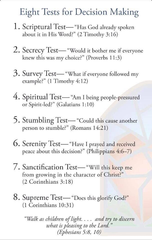 8 Great Tools Found Within Scripture For Discernment in Decision Making