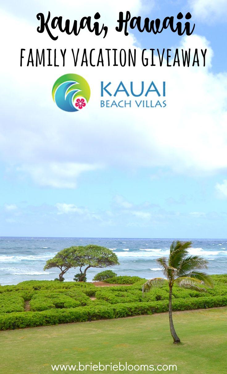 Enter to win the Kauai, Hawaii family vacation giveaway at the Kauai Beach Villas with ResorTime.