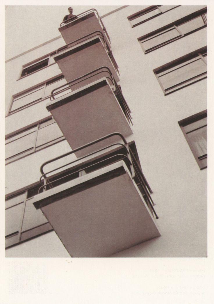 Bauhaus Balconies, 1926. Photograph by Laszlo Moholy-Nagy