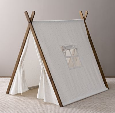 Printed Canvas A-Frame Tent Blue Star