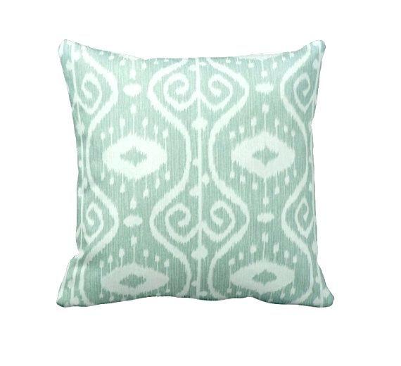 Seafoam Green Pillows Green Throw Pillow Cover Mint Green Pillow