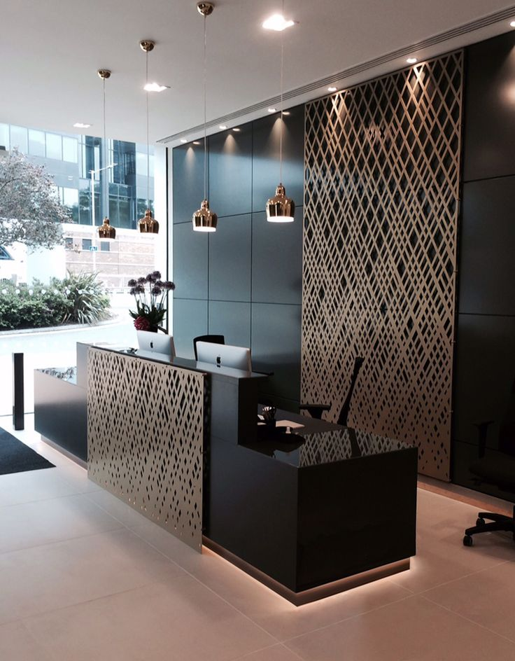 office lobby designs. aberdeen asset management reception london laser cut screens weave design by miles and office lobby designs f