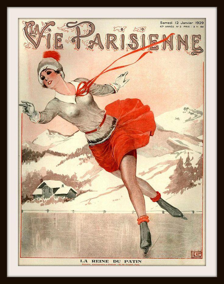"""French Magazine Paris """"La Vie Parisienne"""" Vintage Reproduction Art Print"""