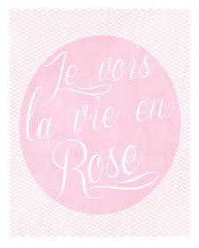 La Vie en Rose - Free Printable