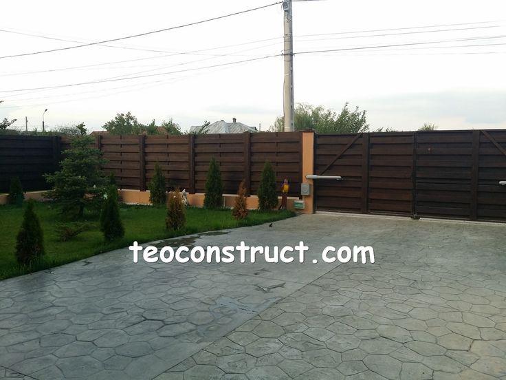 gard din lemn pentru casa si gradina