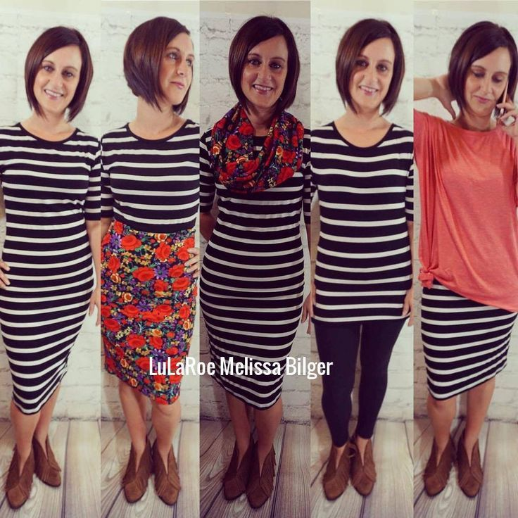 There are so many great ways to wear the Lularoe Julia dress, here is just a few examples! (Pictured with a cassie skirt, leggings, Irma.)