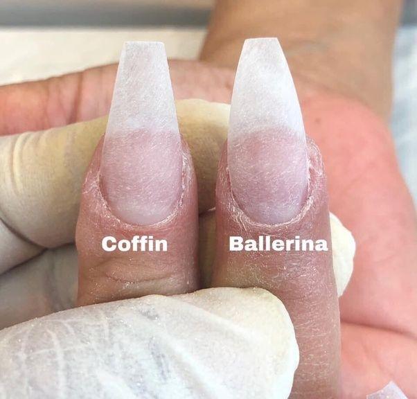 Ballerina Nails Vs Coffin Nails In 2020 Ballerina Nails Shape Ballerina Nails Ballerina Nails Designs