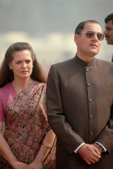 Rajivji n Sonia Gandhi.