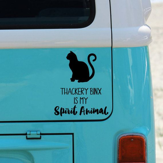 Thackery Binx Is My Spirit Animal | Vinyl Decal | Outdoor Decal | Hocus Pocus | Halloween | Sanderson Sisters | Black Cat | Funny | Cat Gift