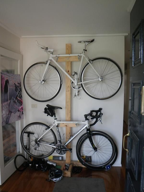 Creative and Practical Bicycle Storage Ideas : Small Garage Indoor Bike  Storage Ideas Wooden Case