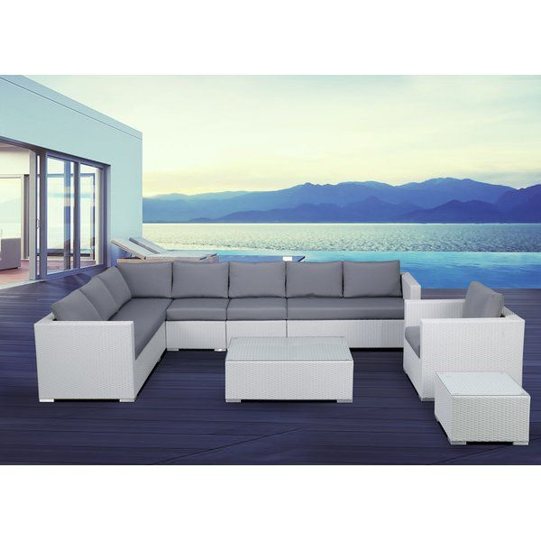 The XXL guarantees for an exciting outdoor experience. Its modular design allows a variety of different set-ups that will accommodate your guests. There is no question a sectional outdoor lounge like the XXL will transform your garden into a chic entertaining space. Family and friends will be excited to comer over for a BBQ or drinks. The generous design of the patio set provides ample seating. The XXL consists of a 3-seater lounge sofa, a corner loveseat with a left armrest, two modular…