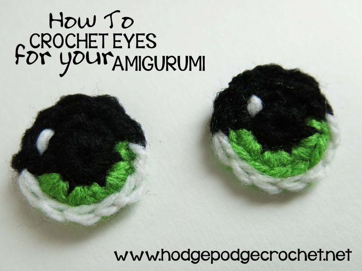How To Crochet Eyes For Your Amigurumi :: www.hodgepodgecrochet.net