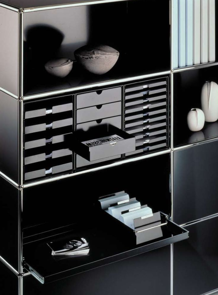 Organization System: dai brand strategy & design was responsible for the design of INOS for USM. It was developed as independent product line to complete the modular furniture Haller System. The elements – angled trays, book-ends, CD filing trays, tray inserts for writing materials and small items as well as the drawer box set – serve for filing and archiving. According to USM's tradition and values INOS is made out of metal and meets criteria such as modular, functional and system…
