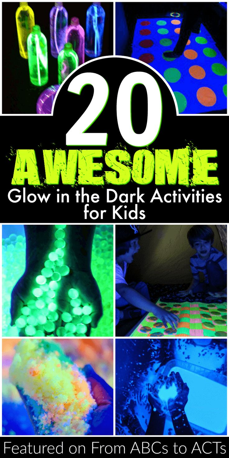 Need to find something for the kids to do this summer? These 20 awesome glow in the dark activities will keep them entertained all season long!