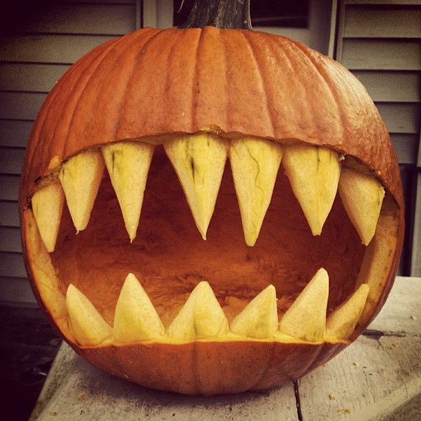 Image result for extreme scary pumpkin carvings ey…