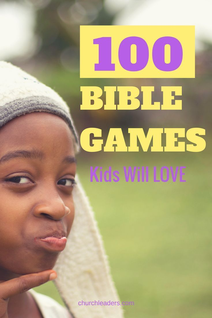 Kids will love playing these active, fun, and meaningful Bible games!