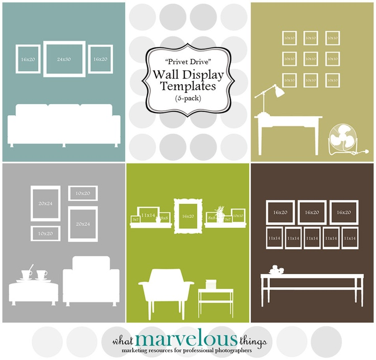 marvelous creative ways to hang pictures without frames. Customizable Photo Wall Display Templates  Privet Drive 12 best My Etsy Shop What Marvelous Things images on Pinterest