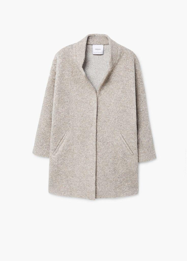 Płaszcz kokon z teksturą