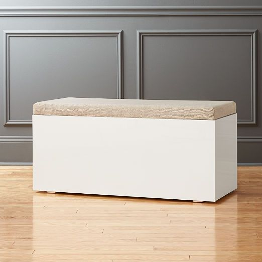 Cb2 Clearance Home Accents And Furniture Cb2 White Storage Bench Storage Bench Modern Storage Bench