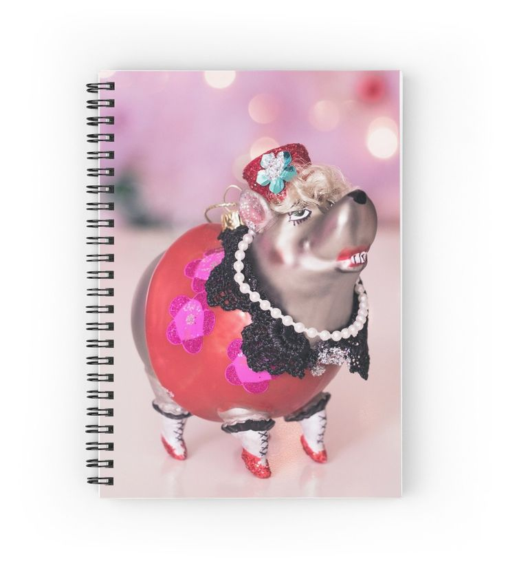 Funny Christmas Ornament spiral notebook by Kelly McKee