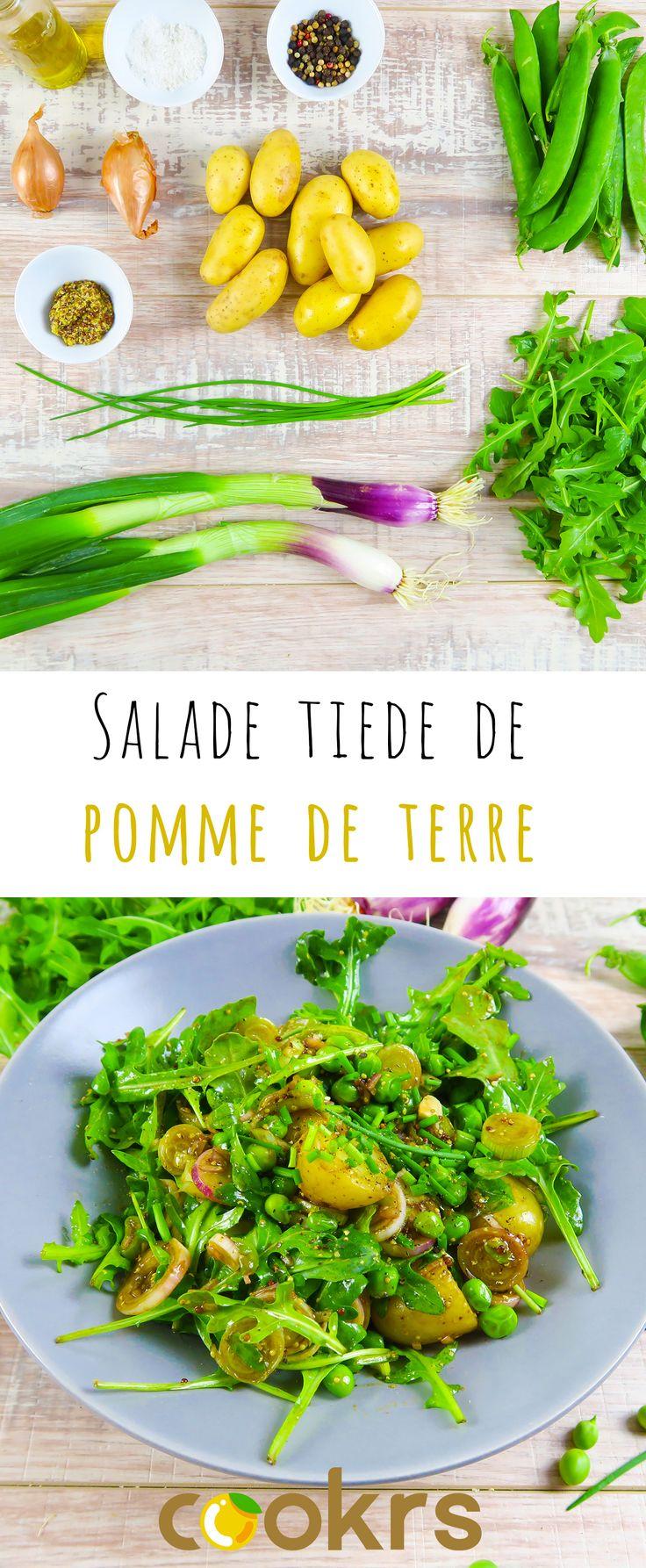 Salade de pomme de terre et petit pois frais, recette estivale (20min de préparation)