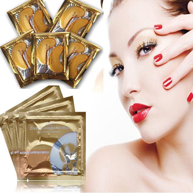 Nuevo 10 unids = 5 pack Mujeres Oro Colágeno Crystal Eye Mask Párpados Patch Humedad Anti Arrugas