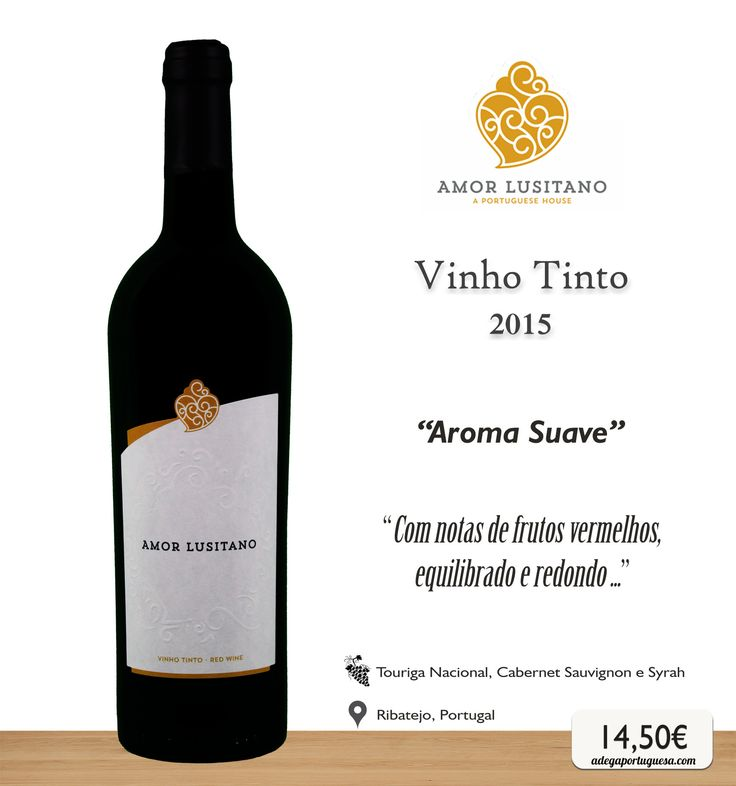 Vinho Tinto Amor Lusitano 2015 #wine #redwine #vinho #tinto #touriganacional #cabernetsauvignon #syrah #ribatejo #portugal #picoftheday #winelovers #amorlusitano #tomar #portuguesewine