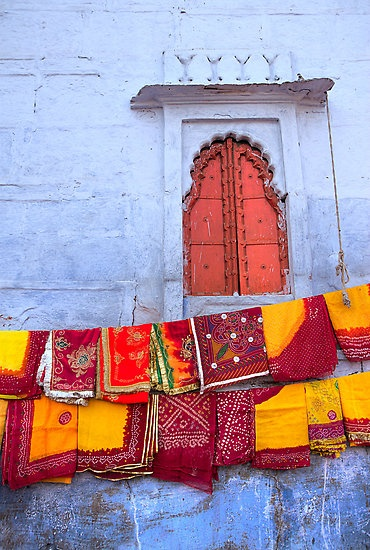 Colorfull handcrafts of India ~ Jodhpur Market, by Heather Hartkamp. Very much would like to go to India.