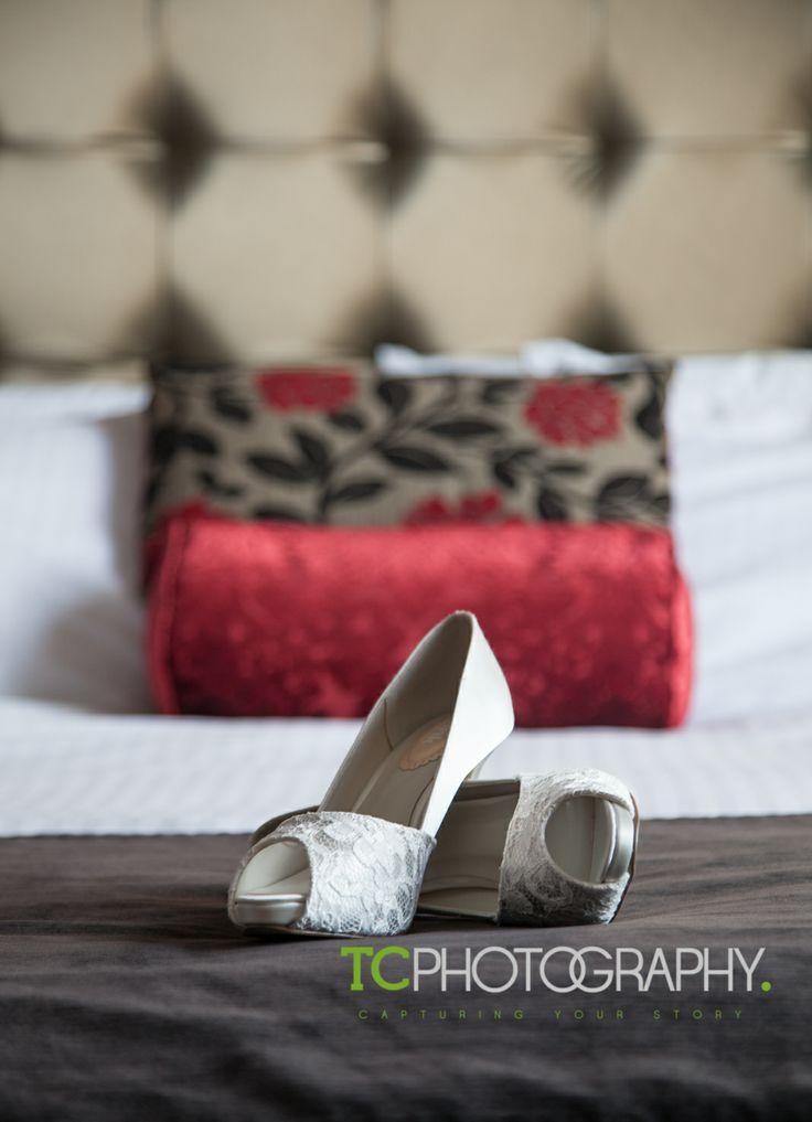 Wedding shoes at @City Hotel Derry City Hotel Derry #cityhotel #bride #bridesmaid #tcphotoni #weddingphotography #northernireland