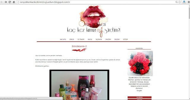 Benim Tutkum - Kozmetik ve Bakım Hakkında Herşey: Senyokkenkaçkezkırmızırujsürdüm Blog Şablon Tasarı...