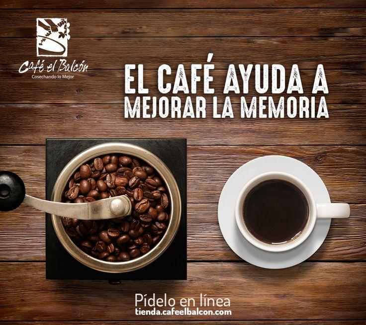 El café ayuda a mejorar la memoria a largo plazo. Pídelo en línea tienda.cafeelbalcon.com #mejorunbuencafe #cafeelbalcon #cafecolombiano #antioquia