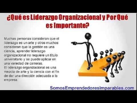 ¿Qué es Liderazgo Organizacional y Por Qué es Importante? - YouTube