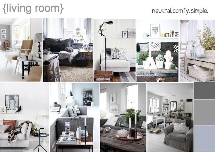 Naturally neutral inspired living room design with simple for Earthy living room ideas