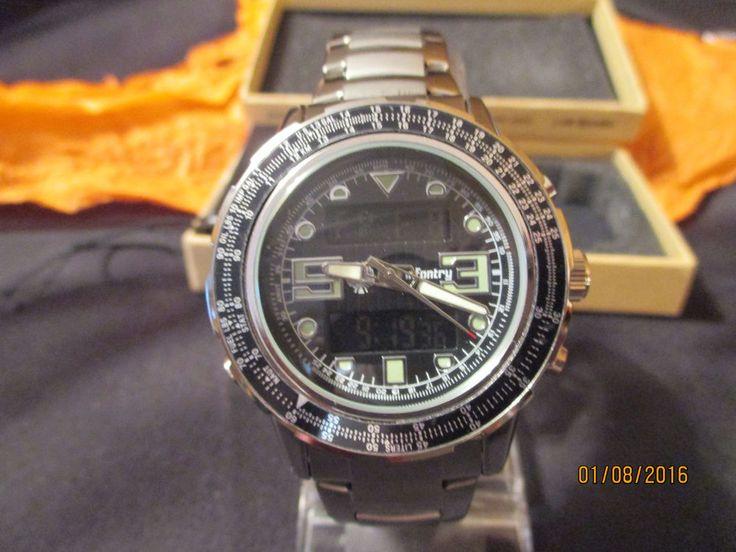 Digital Indicator With Rotatable Bezel : New men s infantry sport quartz watch digital analog day