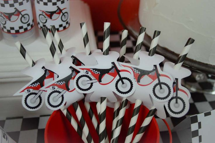 Motorcycle, MX, Dirt Bike Birthday Party Ideas | Photo 30 of 57 | Catch My Party