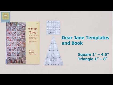 How to use the EZ Quilting  Dear Jane templates and book with Jennie Ray...