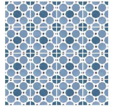 EQUIPE - Carrelage sol Caprice Déco imitation ciment 20x20 cm Saphire colours (prix d'une boîte de 1m²) - Carrelage de sol intérieur - Outiz