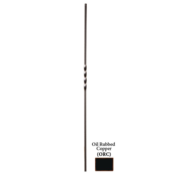 Shop House Of Forgings Solid 44 In Oil Rubbed Copper Wrought Iron Twist  Stair Baluster