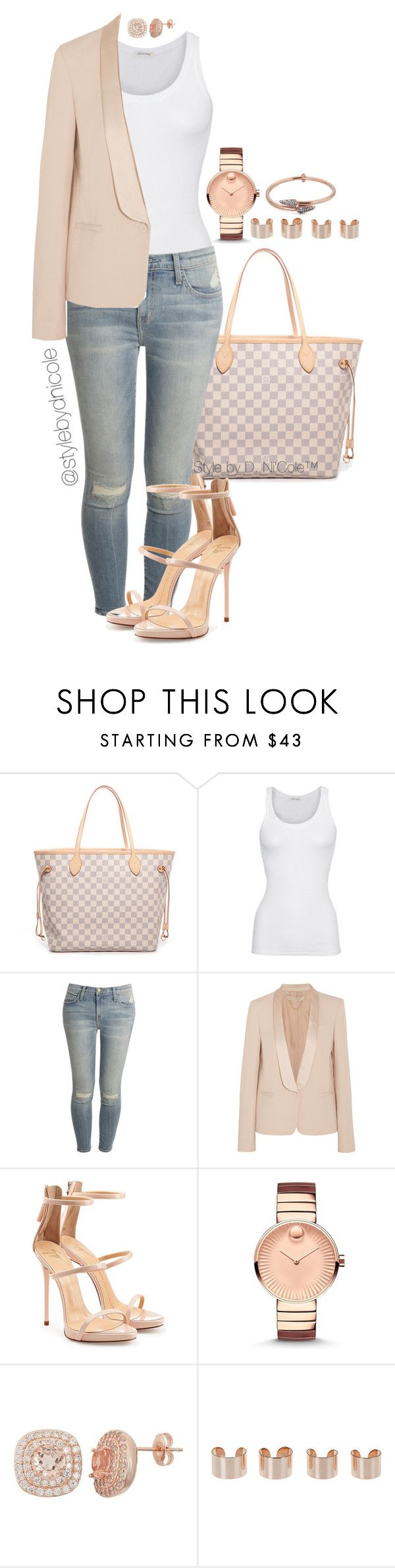 """""""Untitled #3193"""" by stylebydnicole ❤ liked on Polyvore featuring Louis Vuitton, American Vintage, Current/Elliott, Vanessa Bruno, Giuseppe Zanotti, Movado, Maison Margiela, Katie Rowland, women's clothing and women"""